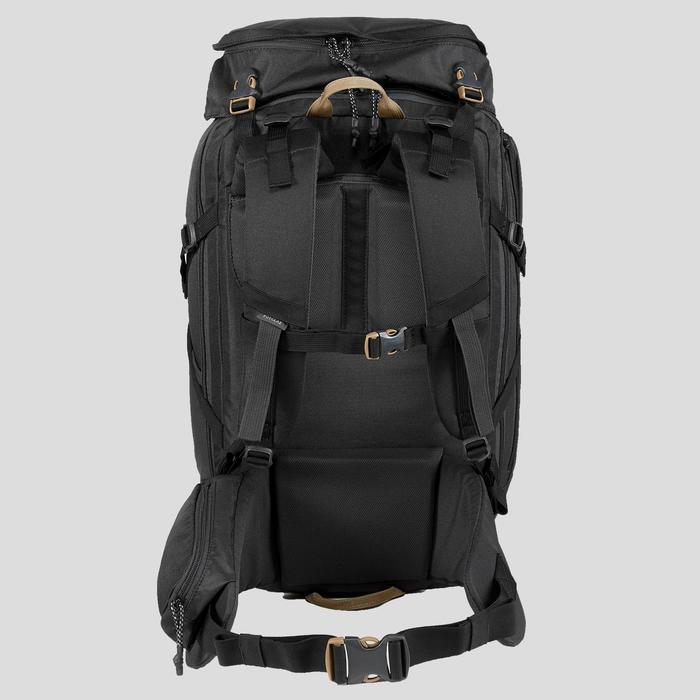 Sac à dos compact 40 litres trek voyage | TRAVEL 100 noir