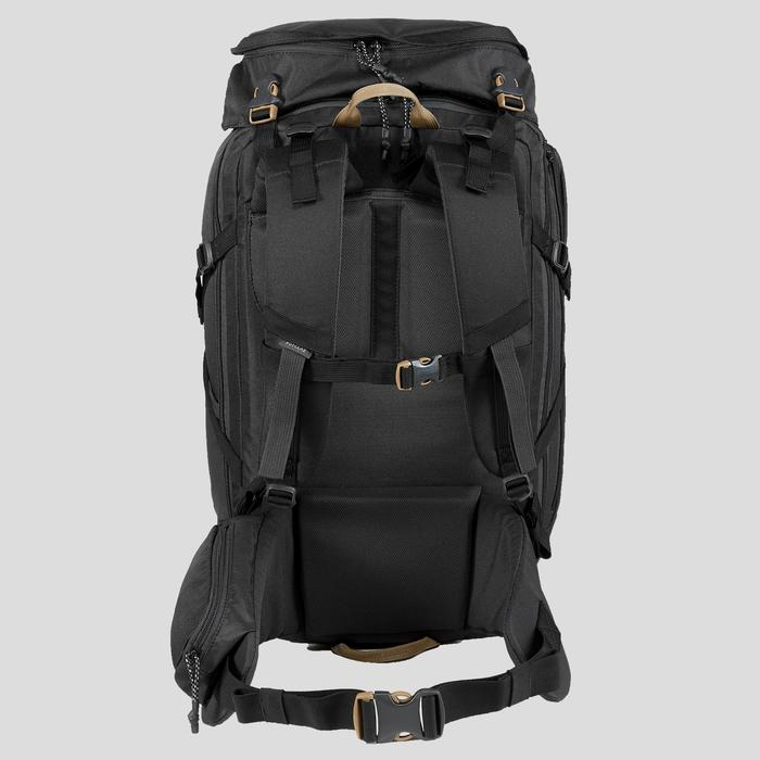 Trekking Travel Backpack 40 Litres | TRAVEL 100 Black