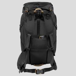 Trekking Travel Backpack 40 Litres | TRAVEL 100 Black