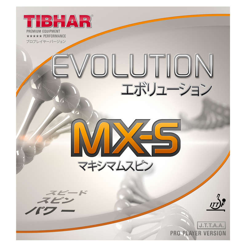 ACADEMIC BLADES & RUBBERS Table Tennis - Evolution MX-S Rubber TIBHAR - Table Tennis Accessories