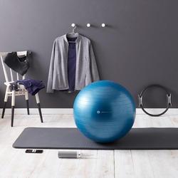 Sporttopje voor pilates/lichte gym dames, marineblauw