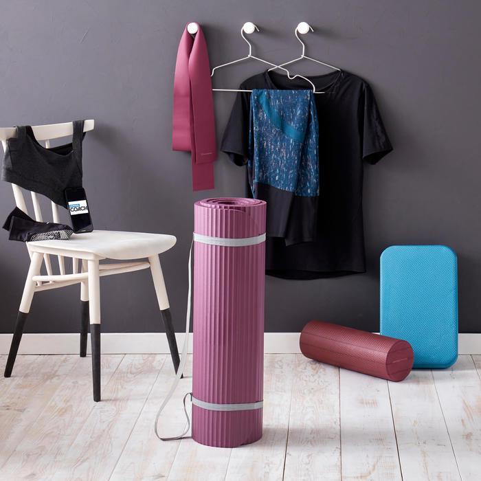 Pilatesmatte 500 Komfort Größe M 15 mm bordeaux