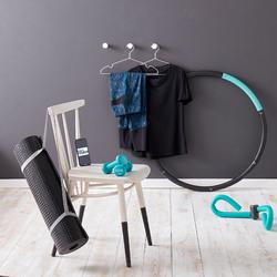 Hula Hoop Lastrado Gimnasia Pilates Domyos 100 Negro/azul 0,9 KG