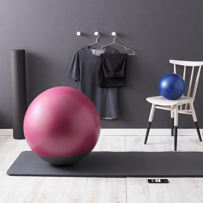 Gymnastikball berstsicher und stabil Pilates bordeaux