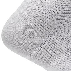 Calcetines Caminar/Marcha Nórdica WS 100 Mid Adulto Blanco (3 Pares)