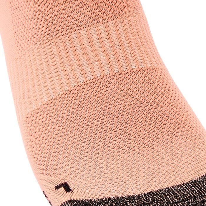 Chaussettes marche sportive WS 500 Fresh Invisible corail