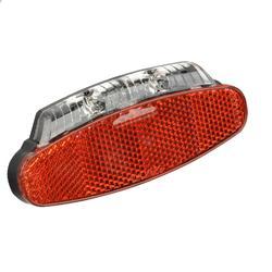 Fahrradbeleuchtung Rücklicht LED mit Z-Reflektor für Dynamo Gepäckträgermontage