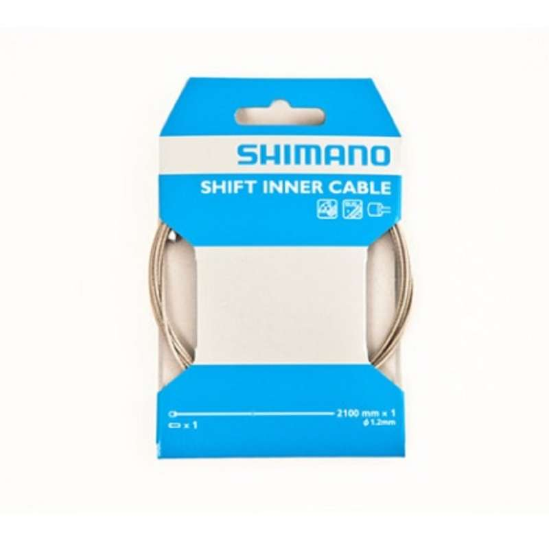 BIKE GEARING Cycling - Gear Cable - 1.2mm x 2100mm SHIMANO - Cycling