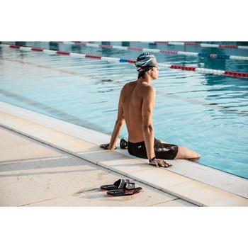 男款泳池拖鞋TOPSLAP SOFT黑色粉紅色