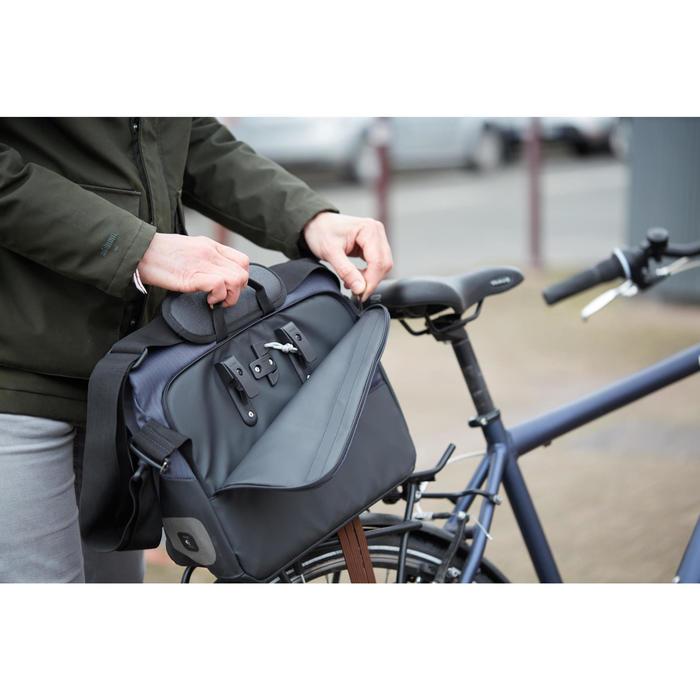 1 x 15 L自行車郵差包500 - 黑色