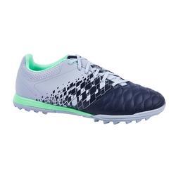 成人款硬地足球鞋Agility 500 HG-海藍&灰綠配色
