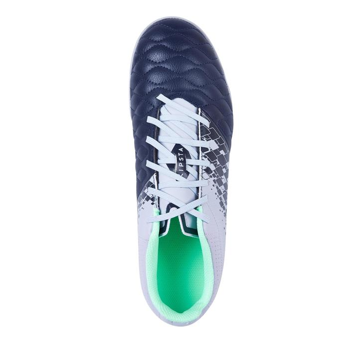 Agility 500 HG Adult Hard Ground Football Trainers - Navy Blue/Grey/Green