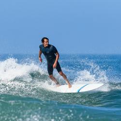 Heren shorty 500 voor surfen stretch neopreen 2 mm blauw grijs