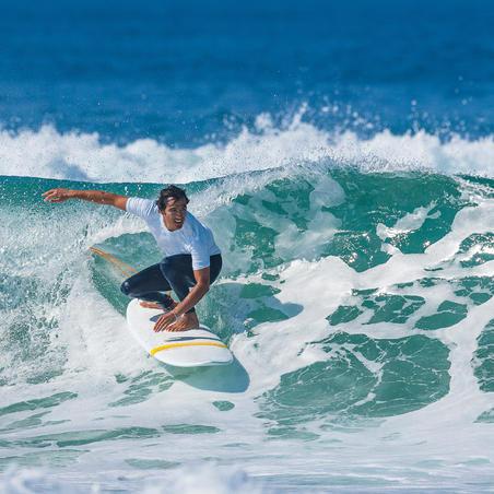 100 men's anti-UV surfing leggings - Navy blue