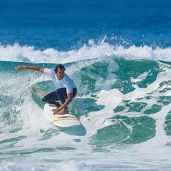 500 men's anti-UV surfing leggings - Navy blue