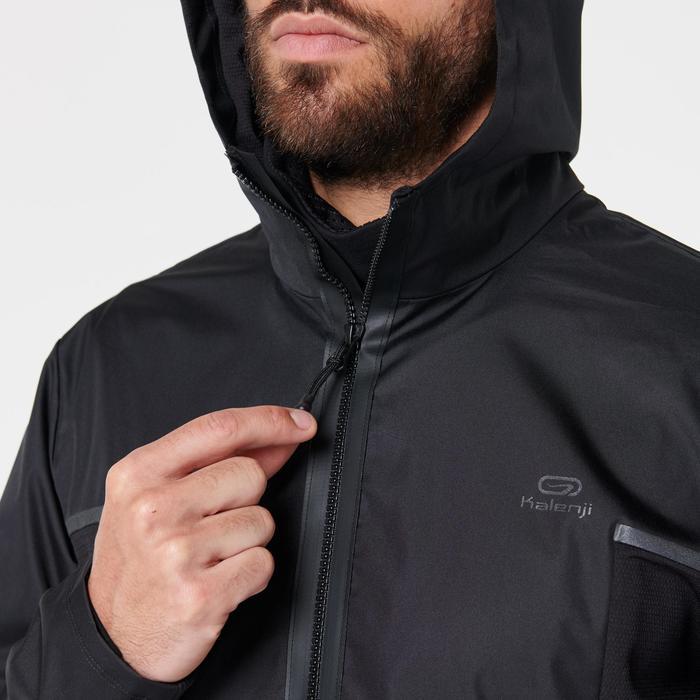 Water- en winddicht joggingjack voor heren Run Rain Breath zwart