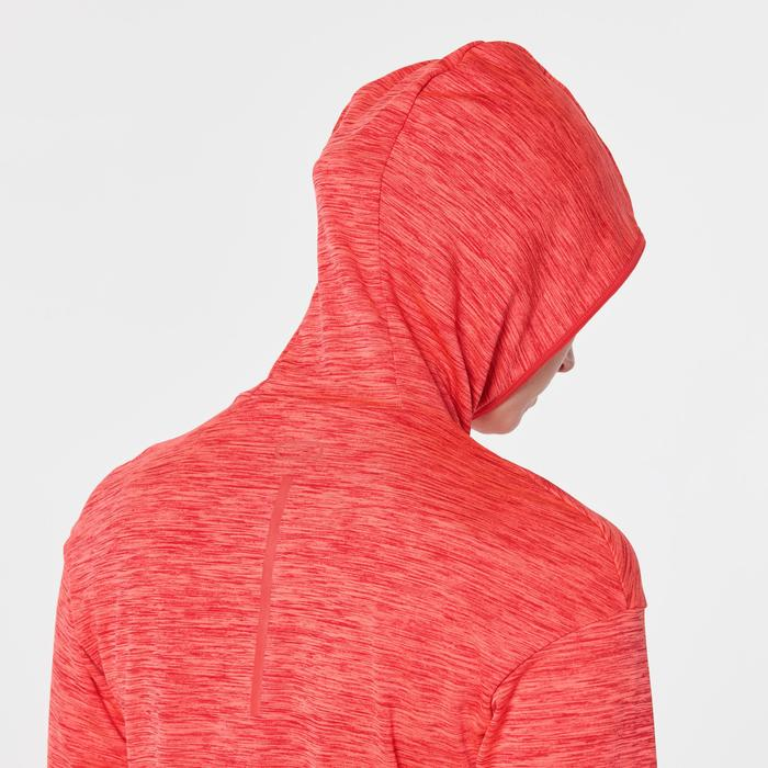 Kapuzen-Sweatshirt Run Warm Damen rot