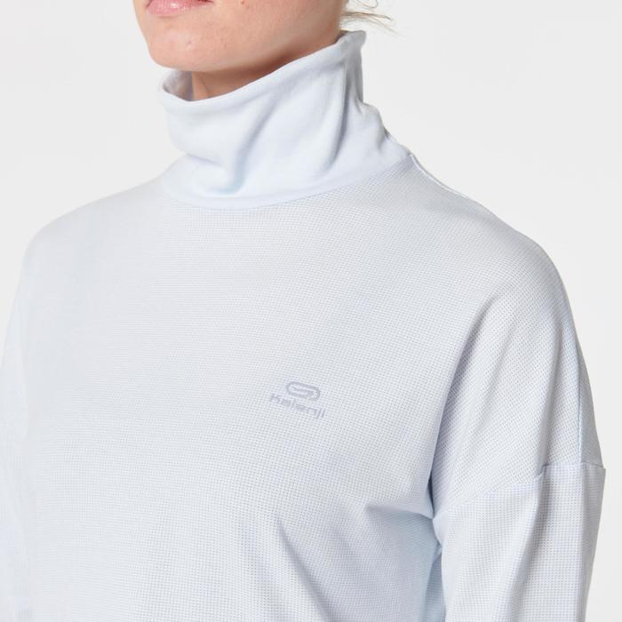 女款長袖T恤RUN DRY+ FEEL - 灰色