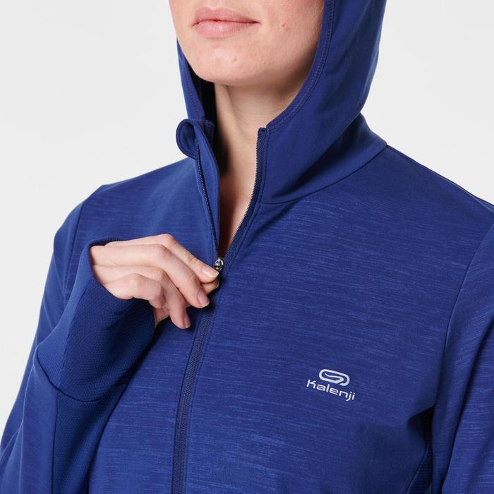 女款連帽外套RUN WARM - 宇宙藍