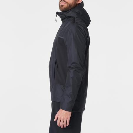Veste coupe-pluie et coupe-vent homme COURSE PLUIE RESPIRANTE noir