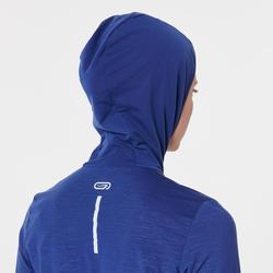 RUN WARM HOODED WOMEN'S JACKET - COSMOS BLUE