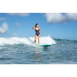 Bañador Moldeador Surf Olaian Doli Mujer Efecto Vientre Plano y Sujetador Azul