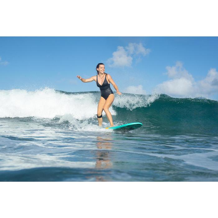 Bañador Moldeador Surf Olaian Doli Mujer Efecto Vientre Plano y Sujetador Negro