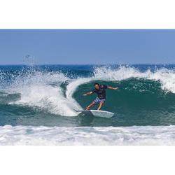 Tabla Surf Epoxi Shortboard Olaian 900 6' Adulto Blanco Gris Oscuro Quillas