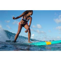 Bas de maillot de bain culotte nouée de surf SABI MAORI noir et blanc
