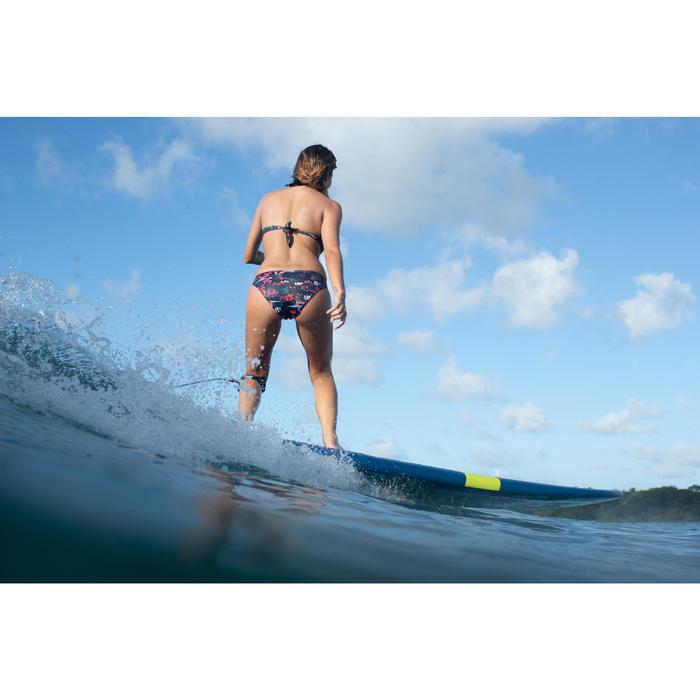 Braga Bikini Surf Ancha Olaian Nina Mujer Clásica Estampado Flores Negro