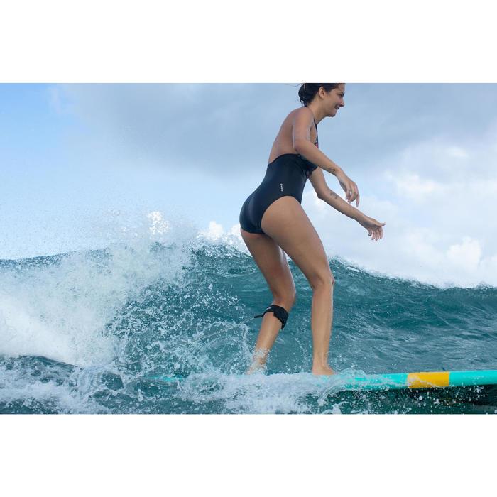 Bañador Deportivo Surf Olaian Clea Mujer Espalda Abierta Anudado Cuello Negro