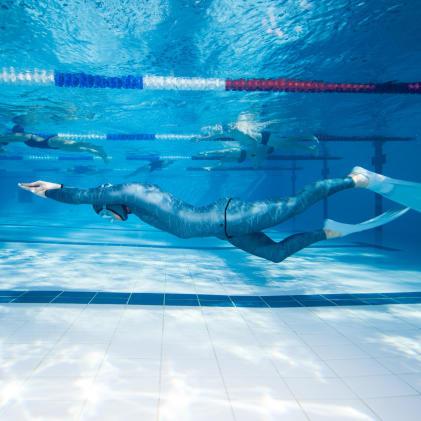 Free-diving en piscine