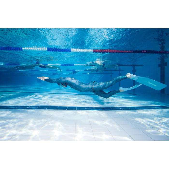 Neoprenhose Freediving FRD 900 Neopren 3 mm grau/grün