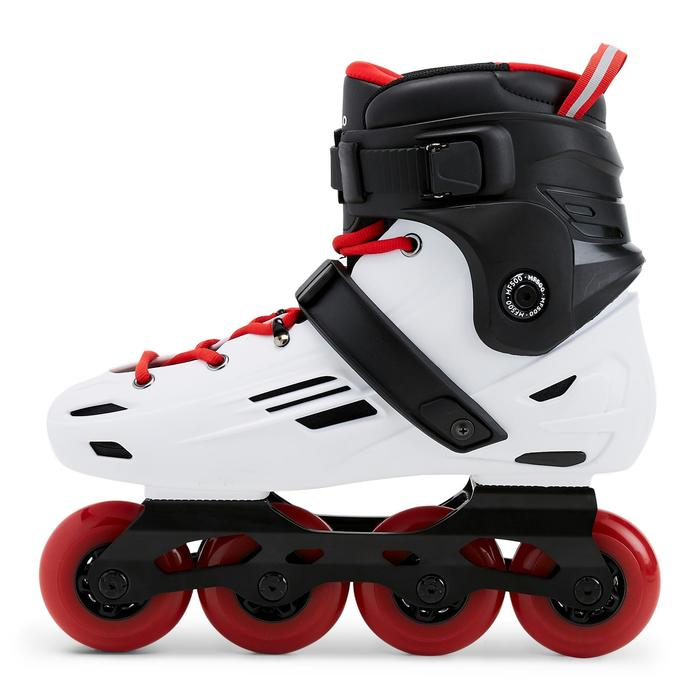 Inline Skates Inliner Freeride MF500 Hardboot Erwachsene weiß/rot