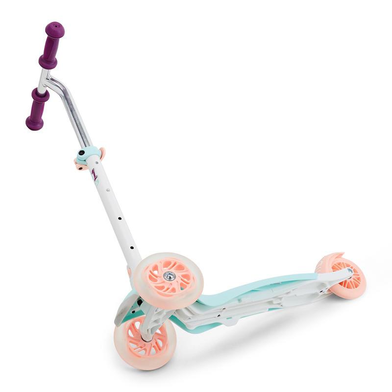 Scooter Oxelo B1 Infantil Luces de Colores Blanco/Menta