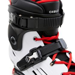 Roller freeride adulte MF500 HardBoot blanc rouge