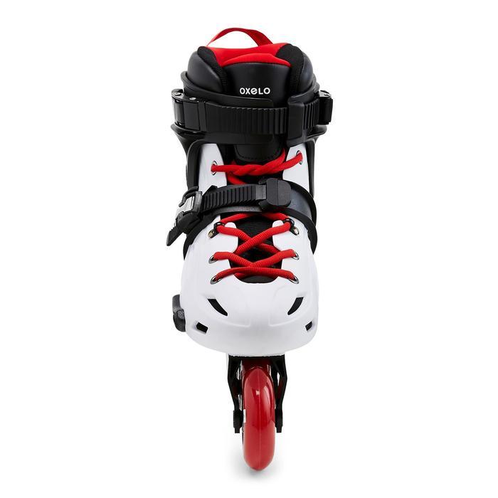 Freeride skeelers voor volwassenen MF500 hardboot wit/rood