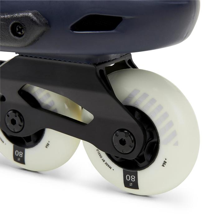 Roller En Ligne Freeride Hardboot adulte MF500 Bleu Blanc