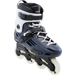 Adult Freeride Hardboot Inline Skates MF500 - Blue/White