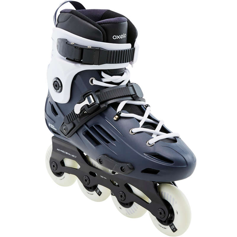 ADULT INLINE SKATE Inline Skating and Roller Blading - HB MF500 - Blue/White OXELO - Inline Skating and Roller Blading