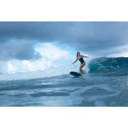 Bañador Moldeador Surf Olaian Dora Mujer Efecto Vientre Plano y Sujetador Negro