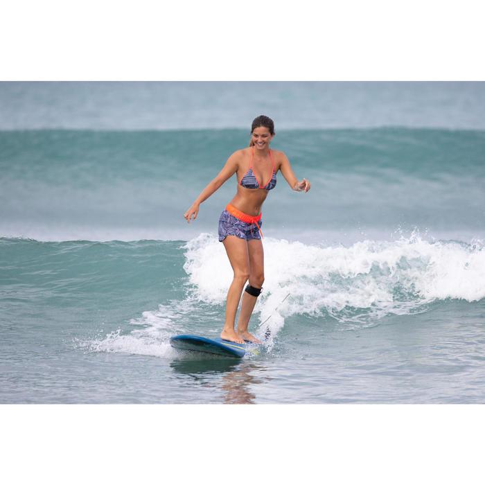 Boardshort de surf mujer TINI TRIBU con cintura elástica y cordón de ajuste.
