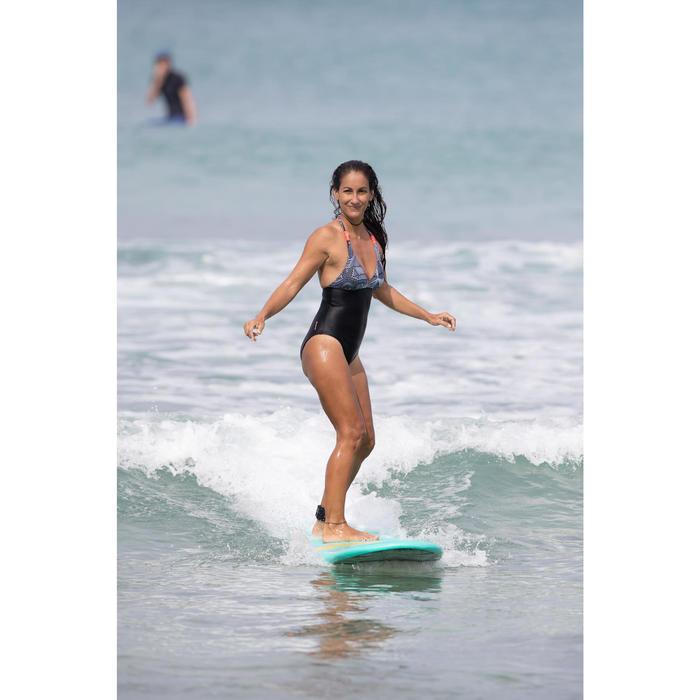 Bañador Deportivo Surf Olaian Clea Mujer Espalda Abierta Anudado Cuello Mosaico