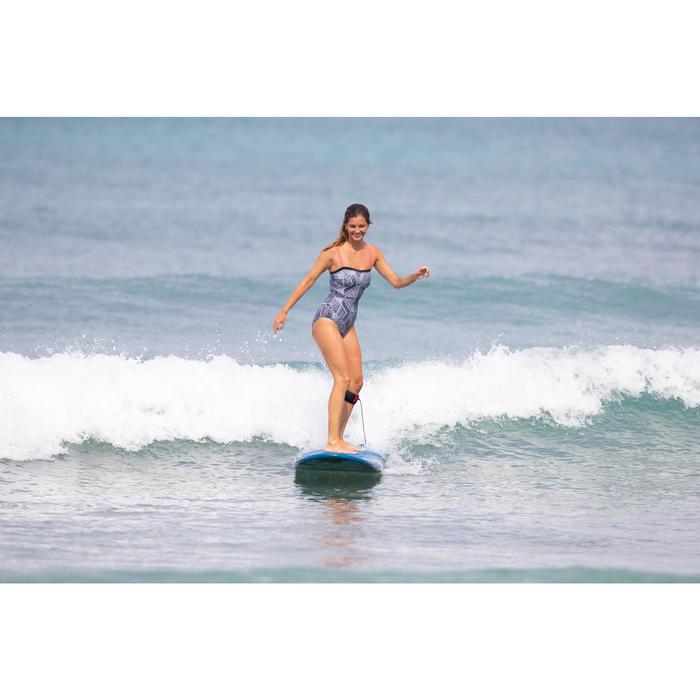 Bañador Deportivo Surf Olaian Puka Mujer Escote Top Espalda Recta Estampado Trib