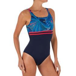 1ad8bf705c8c2a Nabaiji Sportbadpak voor dames Loran zwart Pal blauw | Decathlon.nl
