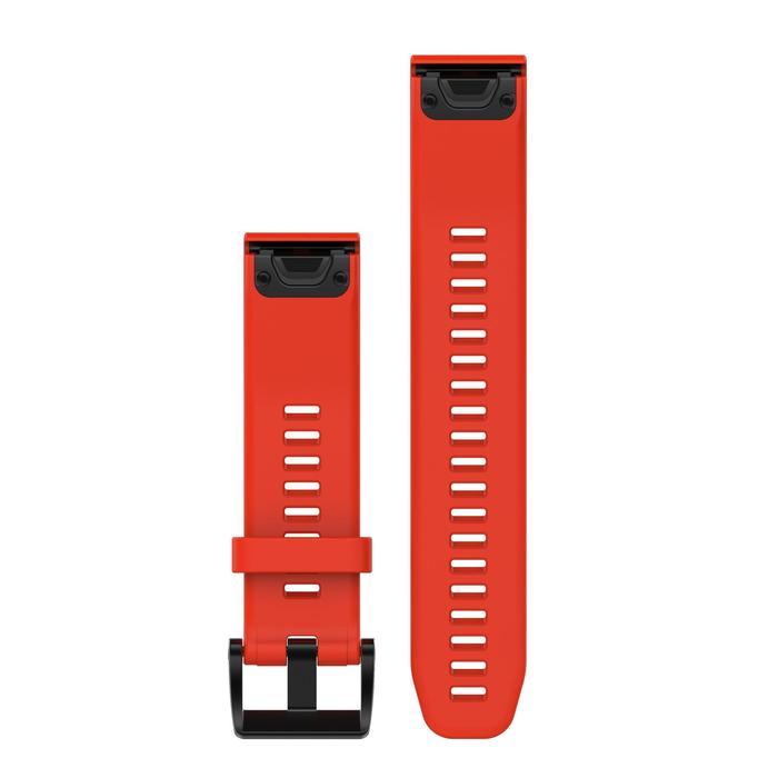 Bandje voor gps-hardloophorloge Garmin Quickfit 22 mm Fenix 5/5 PLUS/6 rood