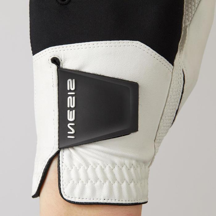 Golfhandschoen voor heren Resistance rechtshandig wit/zwart
