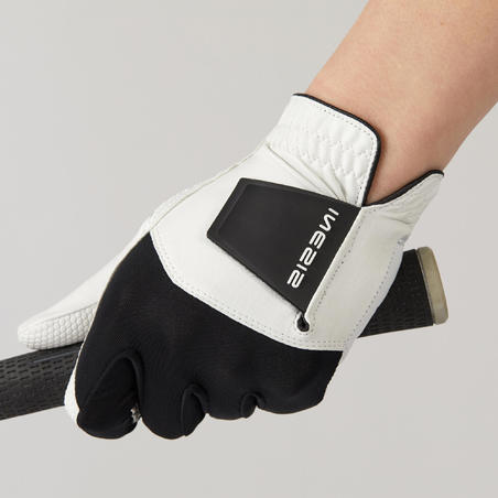 Women's golf resistance glove for Right-Handed players - white and black