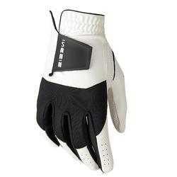 Golfhandschoen voor dames Resistance linkshandig wit/zwart