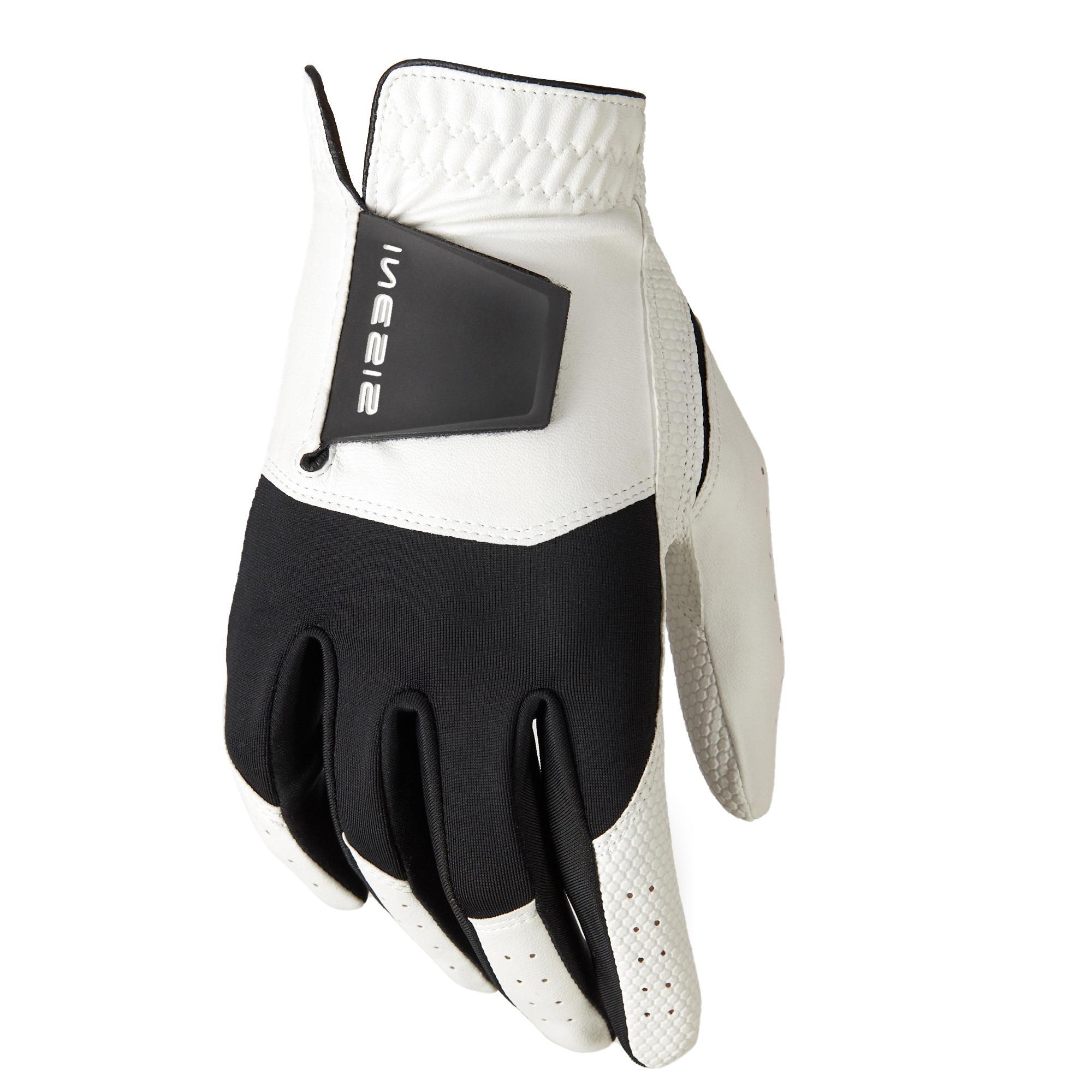 Golfhandschuh 100 LH Damen   Accessoires > Handschuhe   Weiß - Schwarz   Elasthan   Inesis